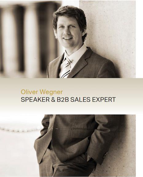 Oliver Wegner Sprecher B2B Vertrieb und Verkauf